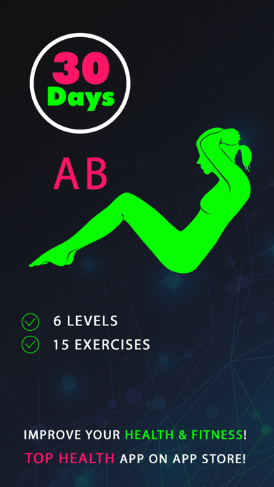 30 Day Ab Fitness Challenges ~ Daily Workout Proのおすすめ画像1
