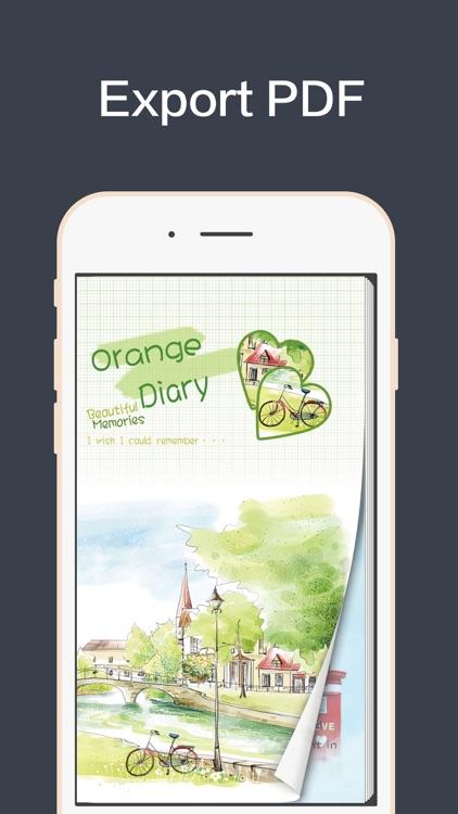 Orange Diary-Gratitude Journal