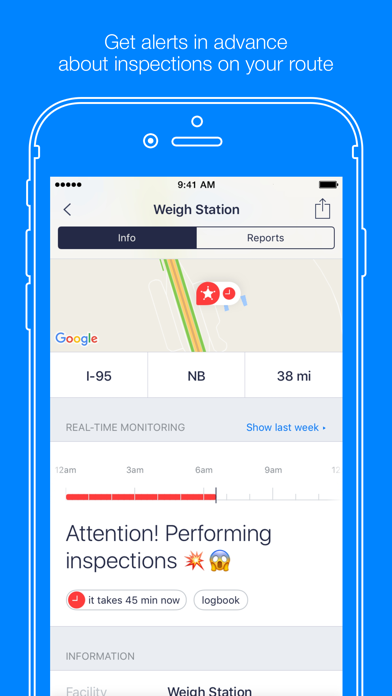 Jack Reports – truckers app Screenshot