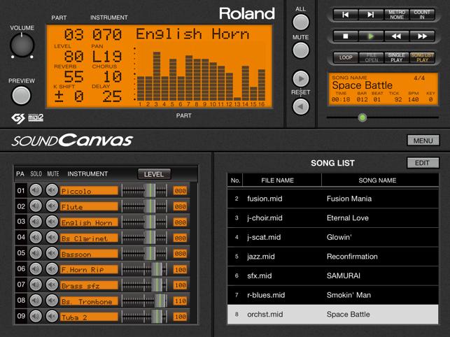 SOUND Canvas Screenshot