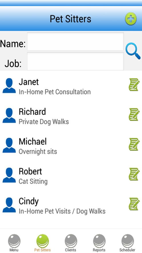 Pet Sitting Software App 截图