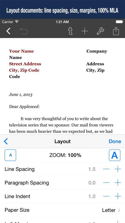 Textilus Pro: Document Writer for Microsoft Office screenshot-3