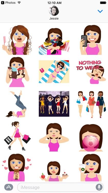 Anna – Sassy Emoji Stickers for Women on iMessage