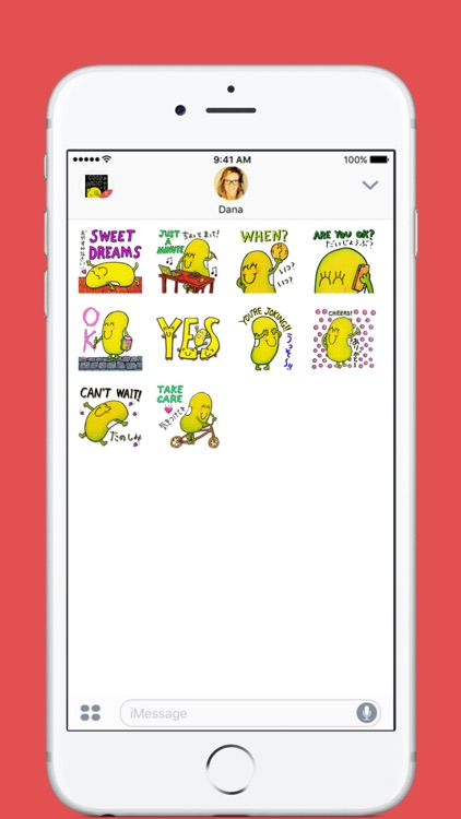 Just Bean Happy: #2 English and Japanese stickers