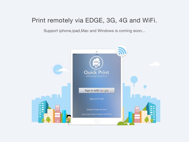 Quick Print via Google Cloud Print for iPad screenshot-1