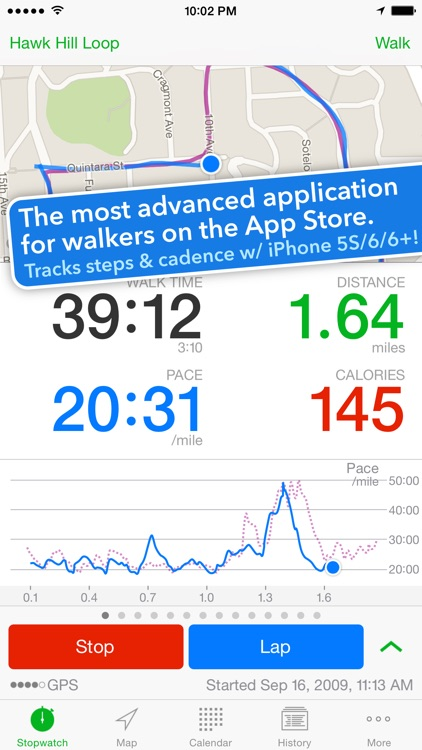 Walkmeter Walking & Hiking GPS screenshot-0