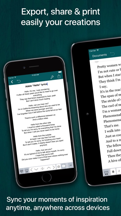 Verse - Write Poems, Song Lyrics and Compositions screenshot-4