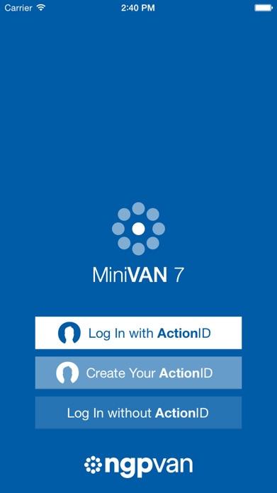 MiniVAN Touch Screenshot