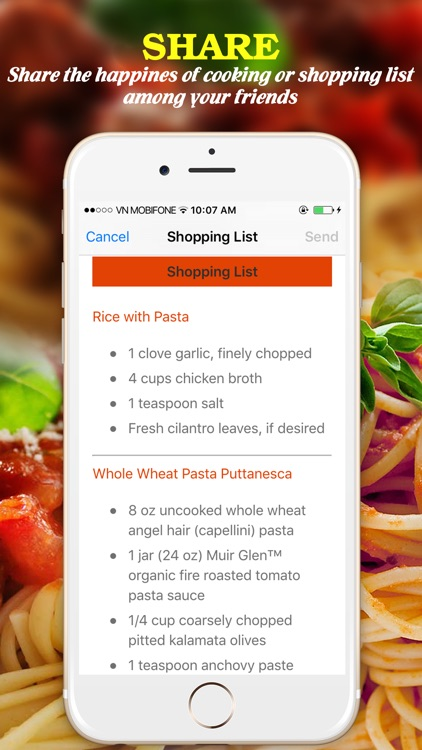 Yummy Pasta Pro ~ Best of delicious pasta recipes screenshot-4