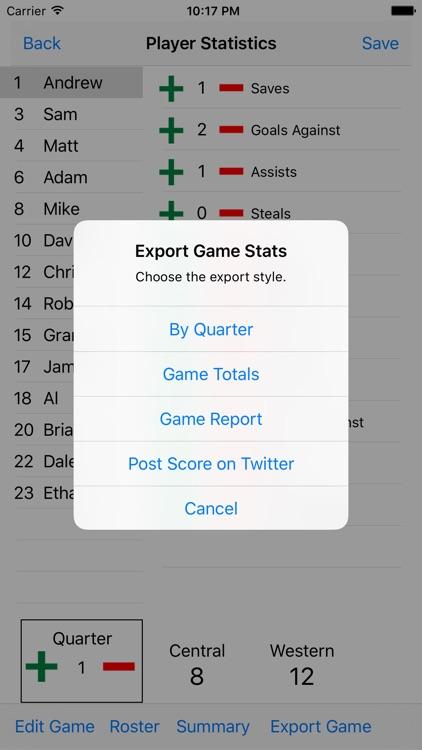 Water Polo Statistics screenshot-3