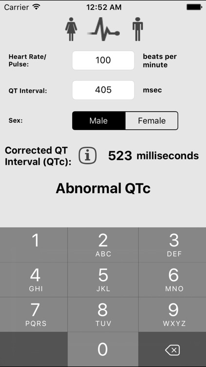 Corrected QT Interval (QTc)