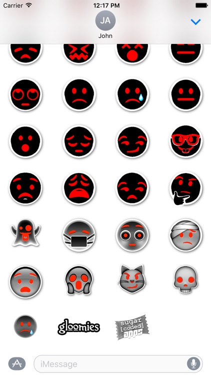 gloomies: goth emojis