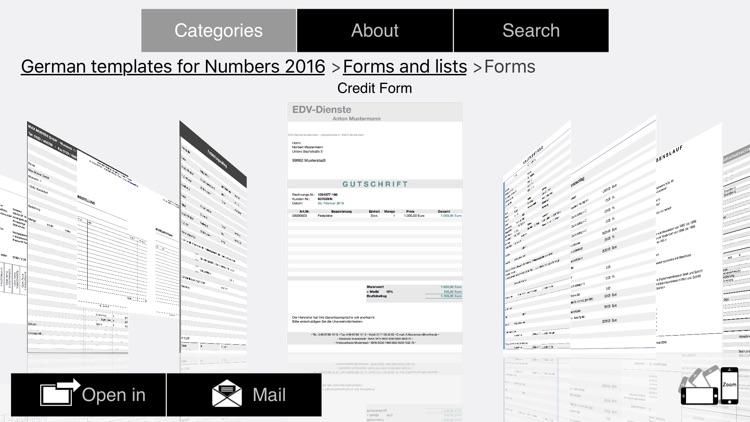 German Templates for Numbers 2016 screenshot-3