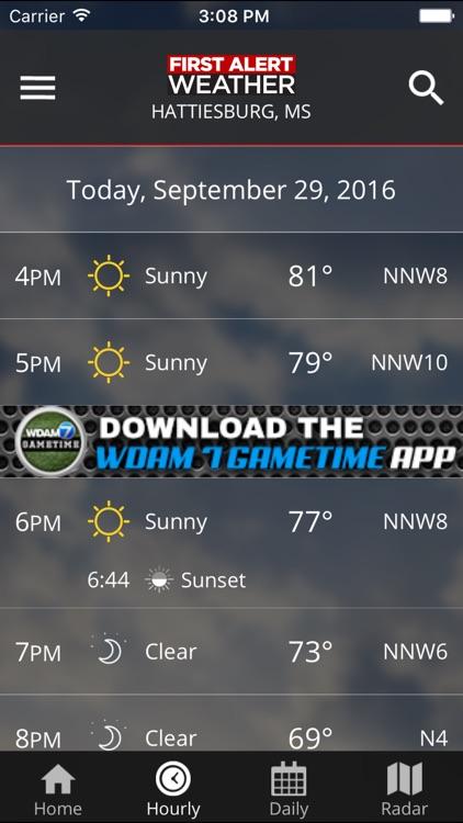 WDAM 7 Hattiesburg Weather screenshot-4