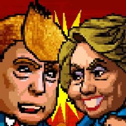 Trump vs Hillary 1-player fighter