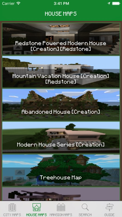 House Maps for Minecraft PE - Best Database Maps for Pocket Edition