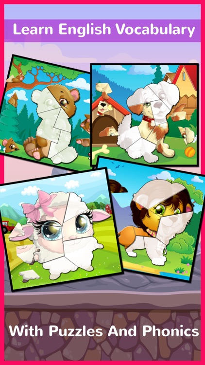 Chibi Animals Phonics Jigsaw Puzzle Games For Kids screenshot-3
