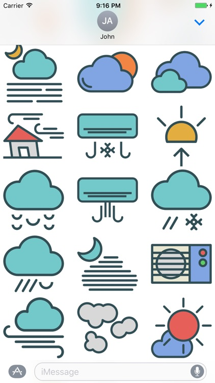 Weather Stickers - Cool Down or Heat Up Messages