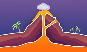 Geography In Pictures - Volcano Atoll And Coral Reef
