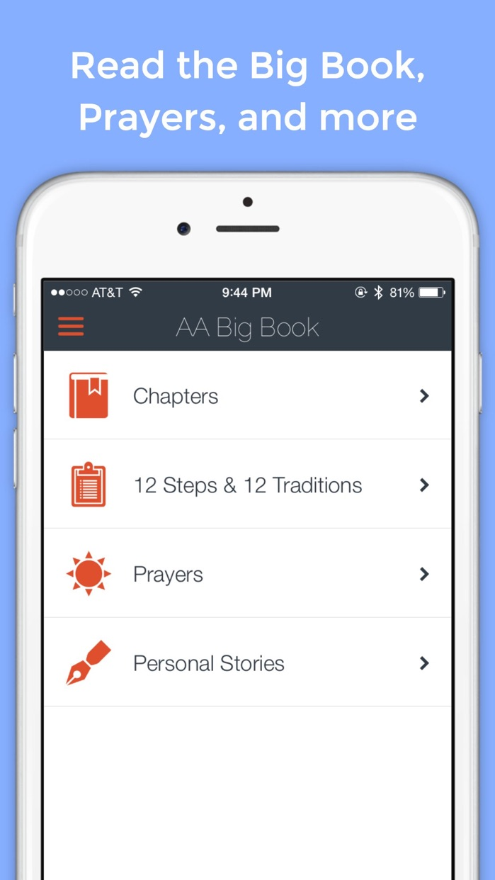 AA Big Book Free — for Alcoholics Anonymous Screenshot