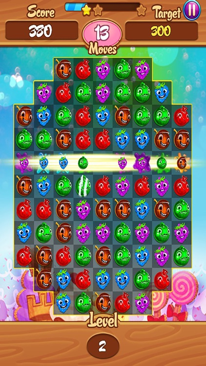 Zombie Fruit Match 3 : Puzzle legend
