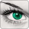 即时眼睛的颜色换 - 化妆品,隐形眼镜,对于Facebook和社交应用妆工具