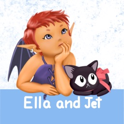 Ella and the Black Cat Stickers for Text Messages