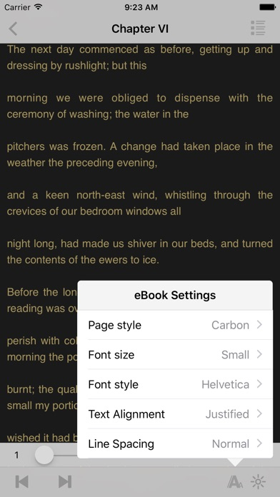 Screenshot for Jane Eyre - Charlotte Bronte in United States App Store