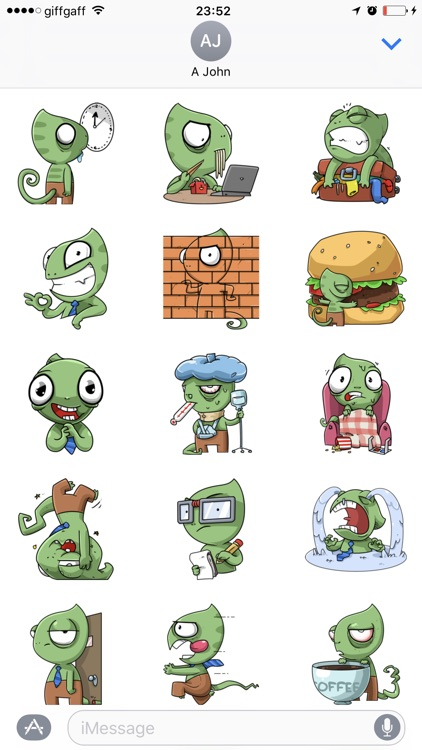 Sneaky Lizard Stickers