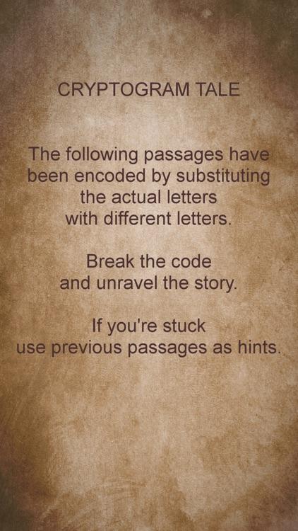 Cryptogram Tale