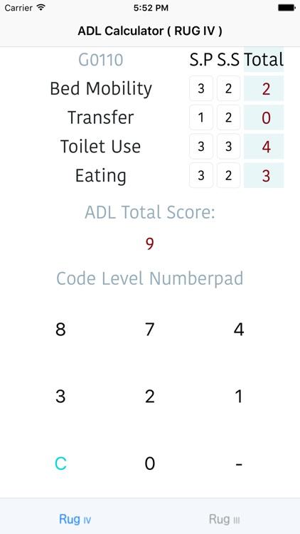 ADL Calc