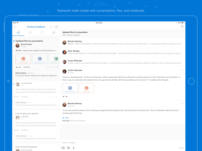 Outlook Groups Screenshot