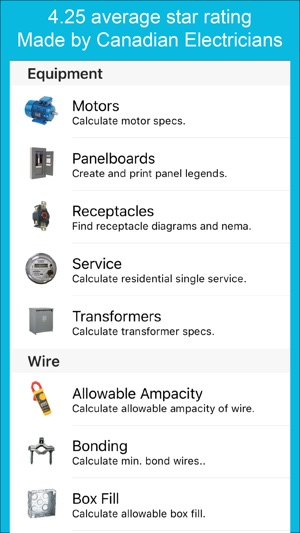 Electrical calc on the app store screenshots greentooth Image collections