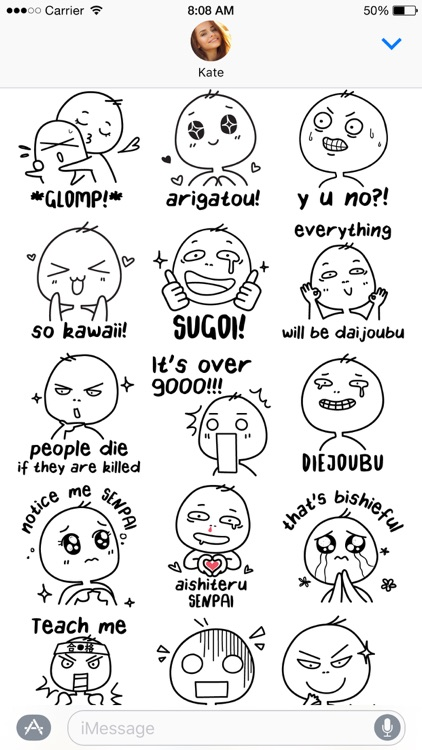 Otaku Lingo stickers screenshot-3