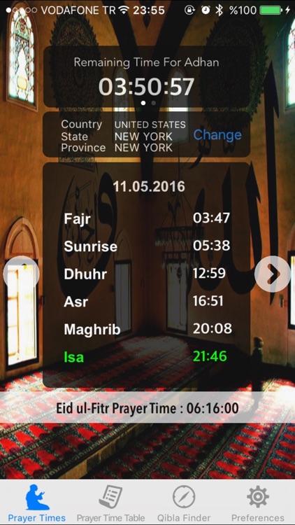 Salat Azan Muslim Prayer Times