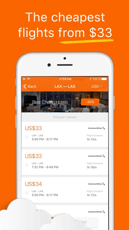 Last-Minute Airfare Deals - Search for Cheap Flights, Cheapest Tickets & International Lowest Fare screenshot-3