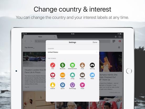Opera Mini web browser Screenshots