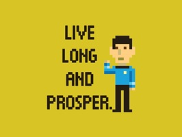 Explore the universe, and your messages, with this new set of Star Trek Trexels 8-bit pixel set