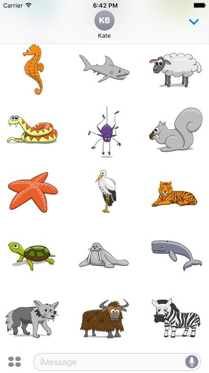 Stickertoons Zoo – Animal stickers for iMessage screenshot-4