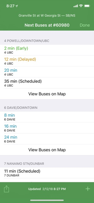 history of the iphone radar metro vancouver buses on the app 6488