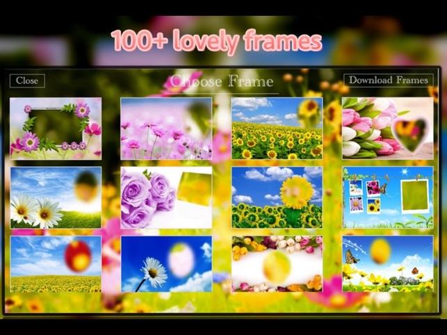 lovely flower frames cutest photo frame app をapp storeで