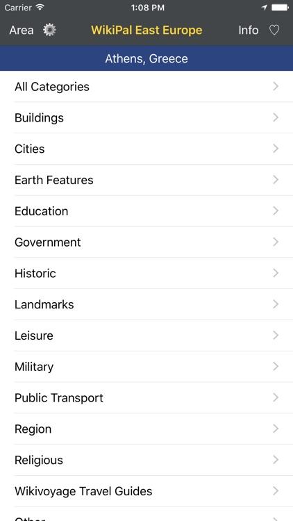 WikiPal East Europe - Offline Wikipedia Places screenshot-4