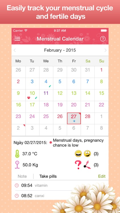 Menstrual Calendar - Cycle Period Tracker