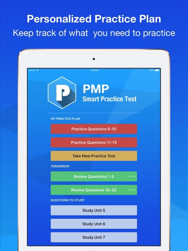 Pmp Smart Exam Prep Practice Test Study On The App Store