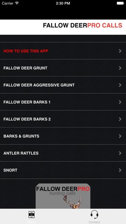 REAL Fallow Deer Calls - Deer Grunt & Deer Bark - BLUETOOTH COMPATIBLE screenshot-0