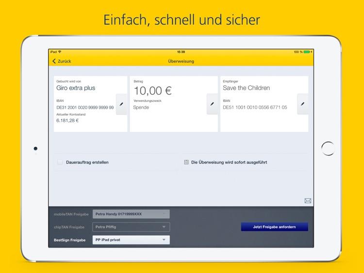 Postbank Finanzass. für iPad screenshot-3