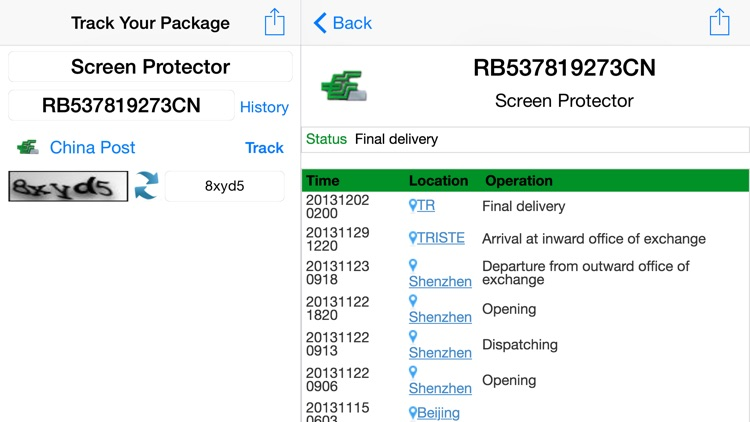 Parcel Tracker screenshot-4
