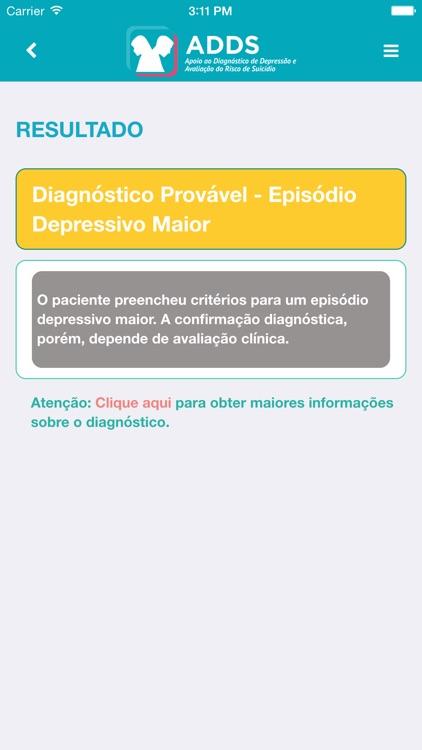 ADDS - Apoio ao Diagnóstico de Depressão e Avaliação do Risco de Suicídio - TelessaúdeRS