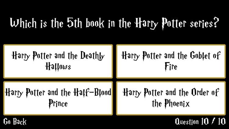 Ultimate Trivia for Harry Potter screenshot-3