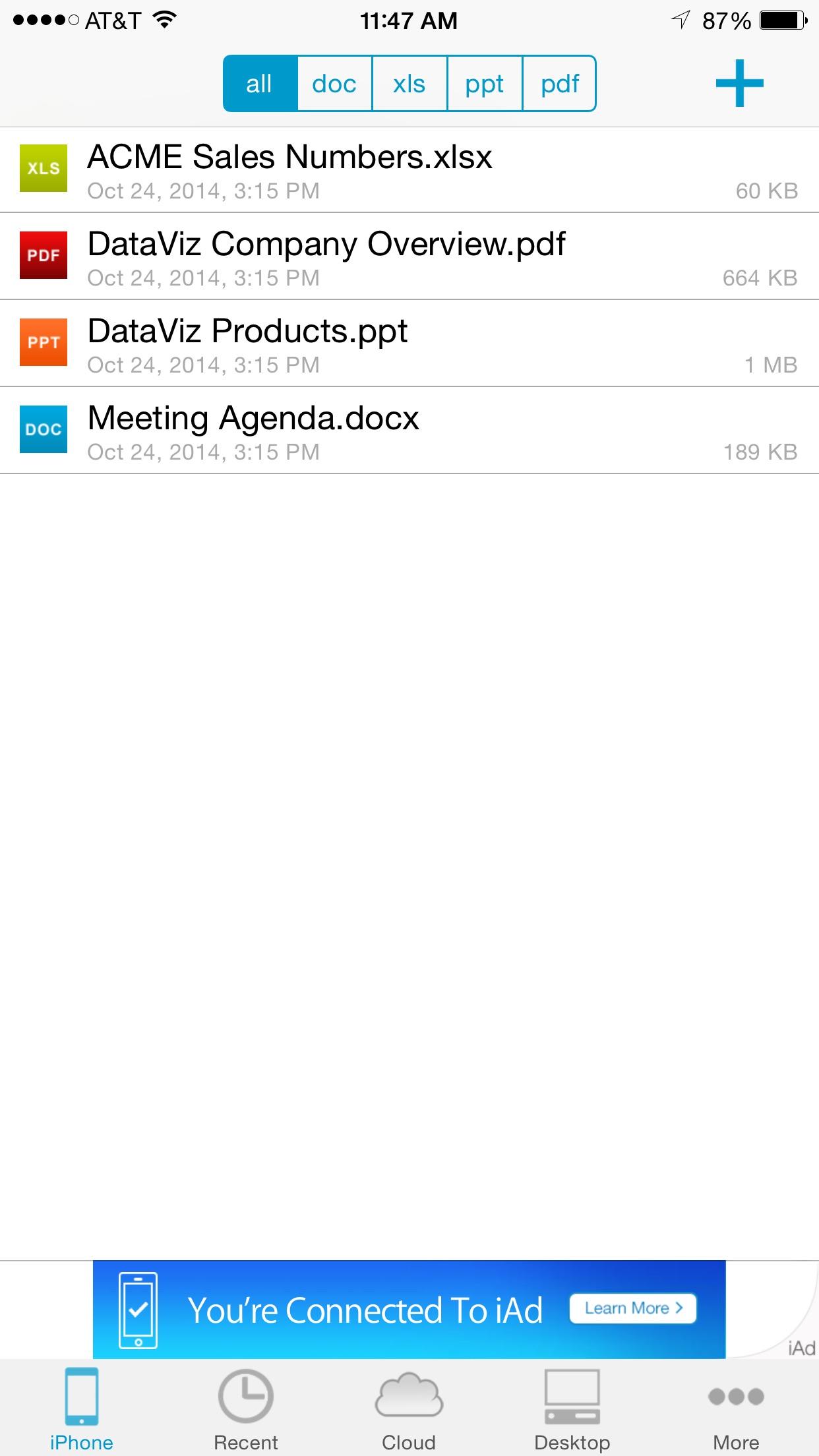 Docs To Go Standard Screenshot